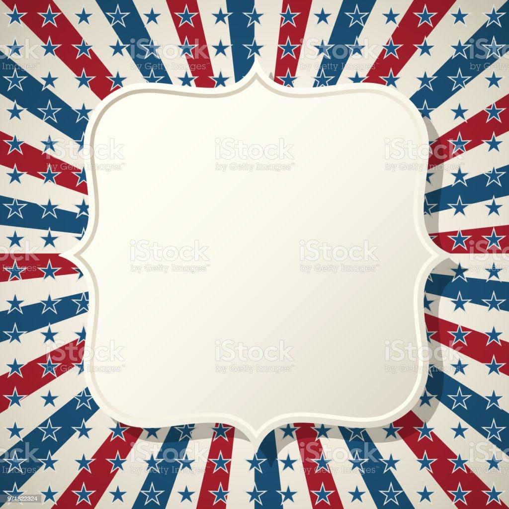 Amerikanische Patriotische Hintergrund Rahmen Stock Vektor Art und ...