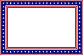 Frame border with USA flag elements.