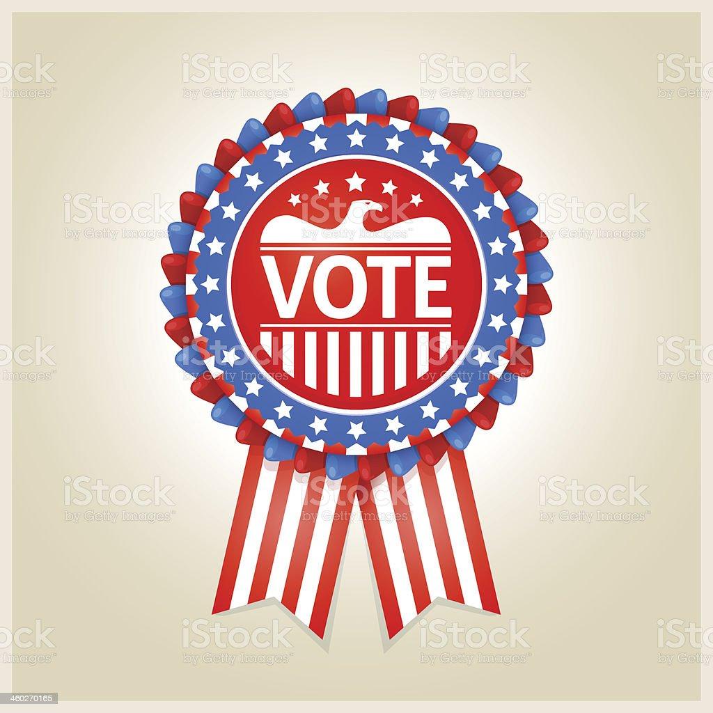 American patriotic election label royalty-free stock vector art