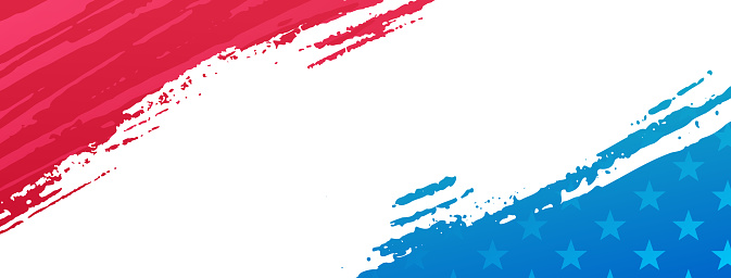 American Patriotic Paint Splash Banner