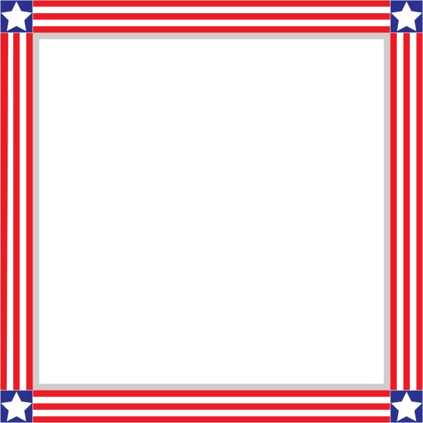 royalty free american flag page border clip art vector images