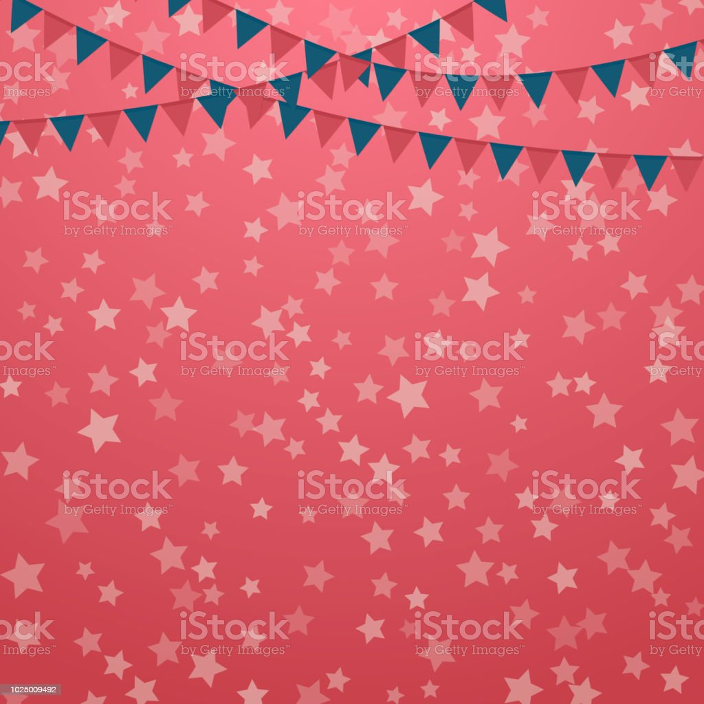 American Patriotic Vector Illustration July 4th Independence Day ...