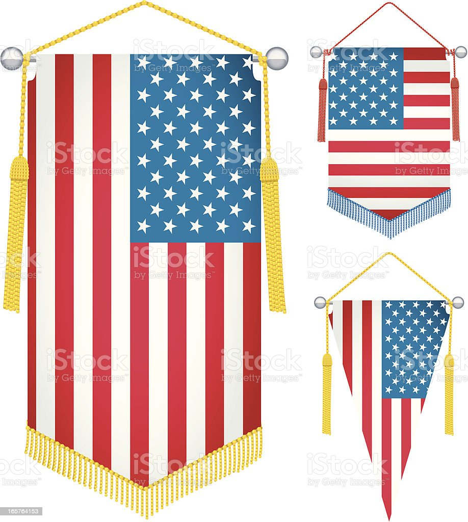 American Pennants royalty-free stock vector art
