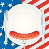 American Picnic Invitation