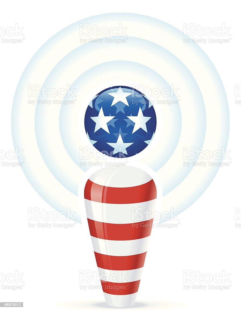 Americano Podcast americano podcast - immagini vettoriali stock e altre immagini di bandiera royalty-free