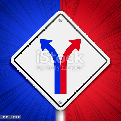 istock American Politics Partisanship Divergence Split Divide Sign 1281903003