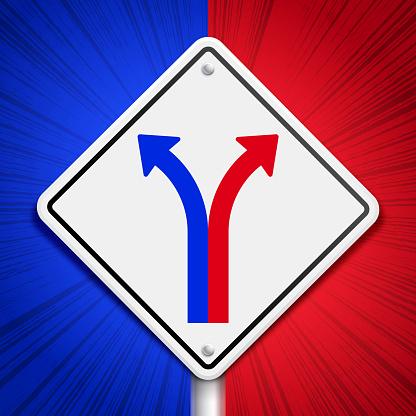 American Politics Partisanship Divergence Split Divide Sign