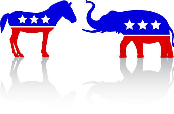 American Politics American politics. party conference stock illustrations