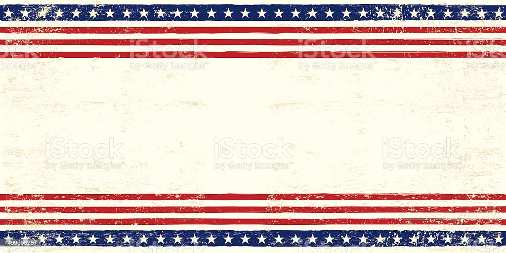 American postcard vector art illustration