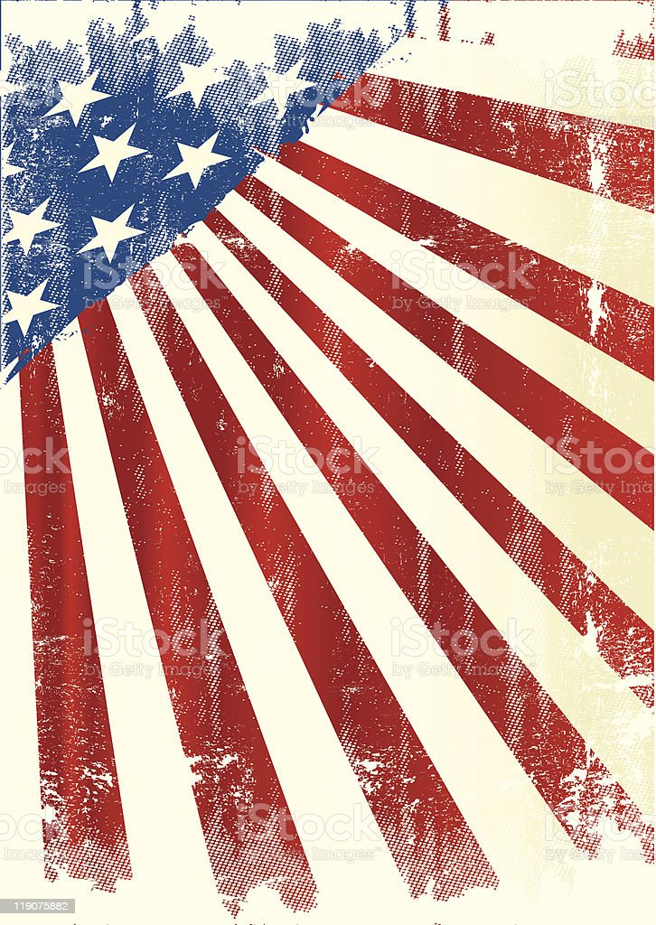 American poster royalty-free stock vector art