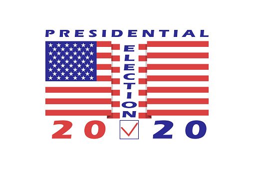 American Presidential Election 2020 Banner Template Design Element For Us Presidential Election On November 3 2020 Isolated On White Background Vector Stock Illustration Download Image Now Istock