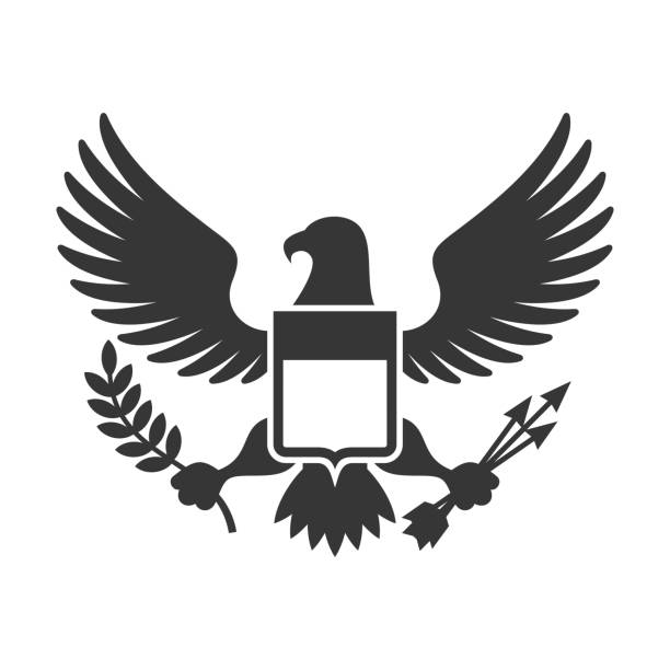 American Presidential Symbol American Presidential Symbol. Eagle with Shield Design element. Vector illustration government stock illustrations
