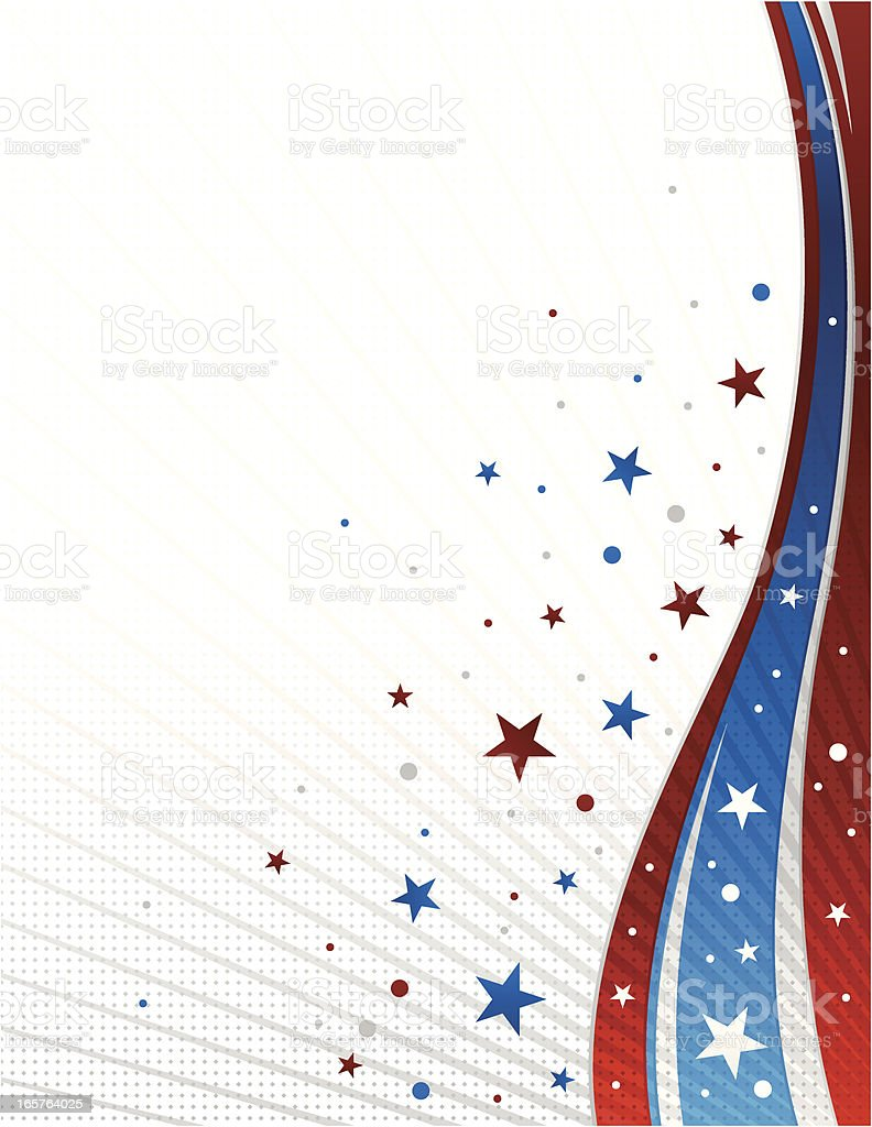 American Pride Background royalty-free stock vector art