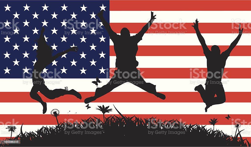 American Pride royalty-free stock vector art