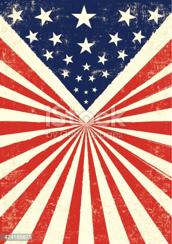 An american vintage flag with a texture.