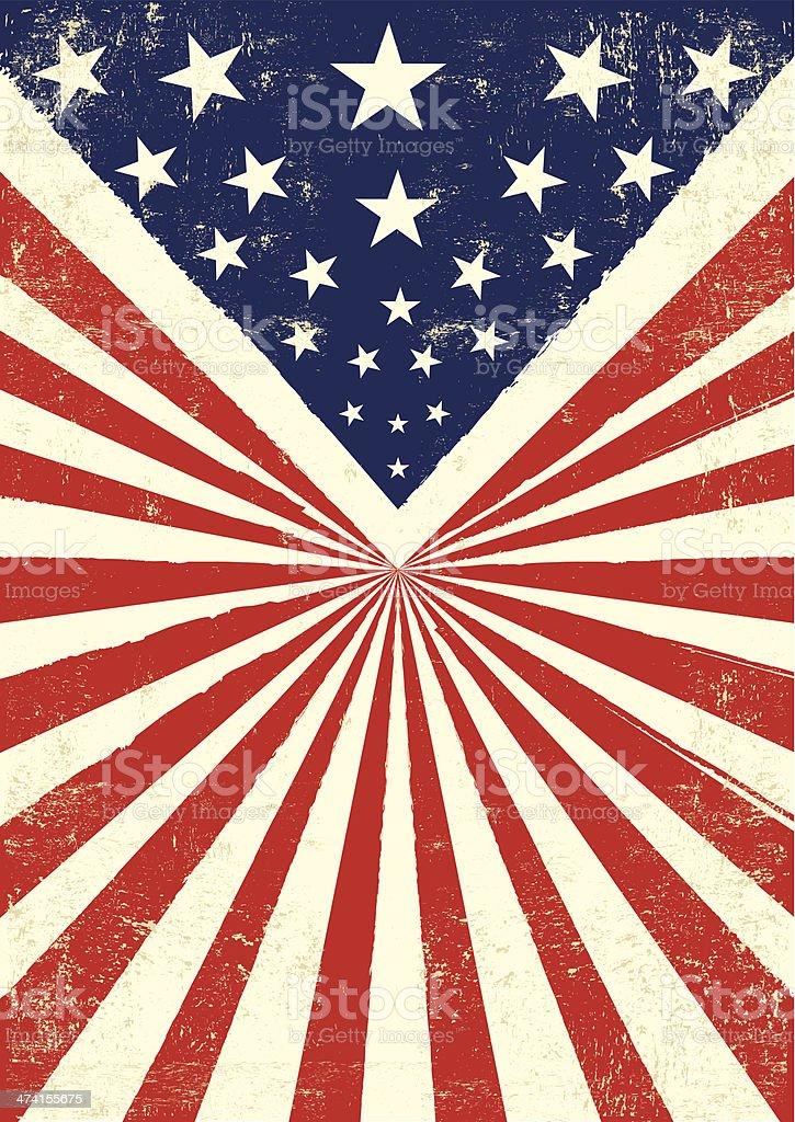 American retro background vector art illustration
