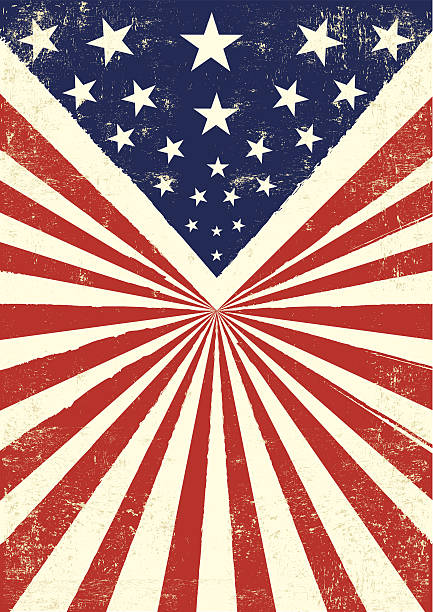 American retro background An american vintage flag with a texture. obsolete stock illustrations