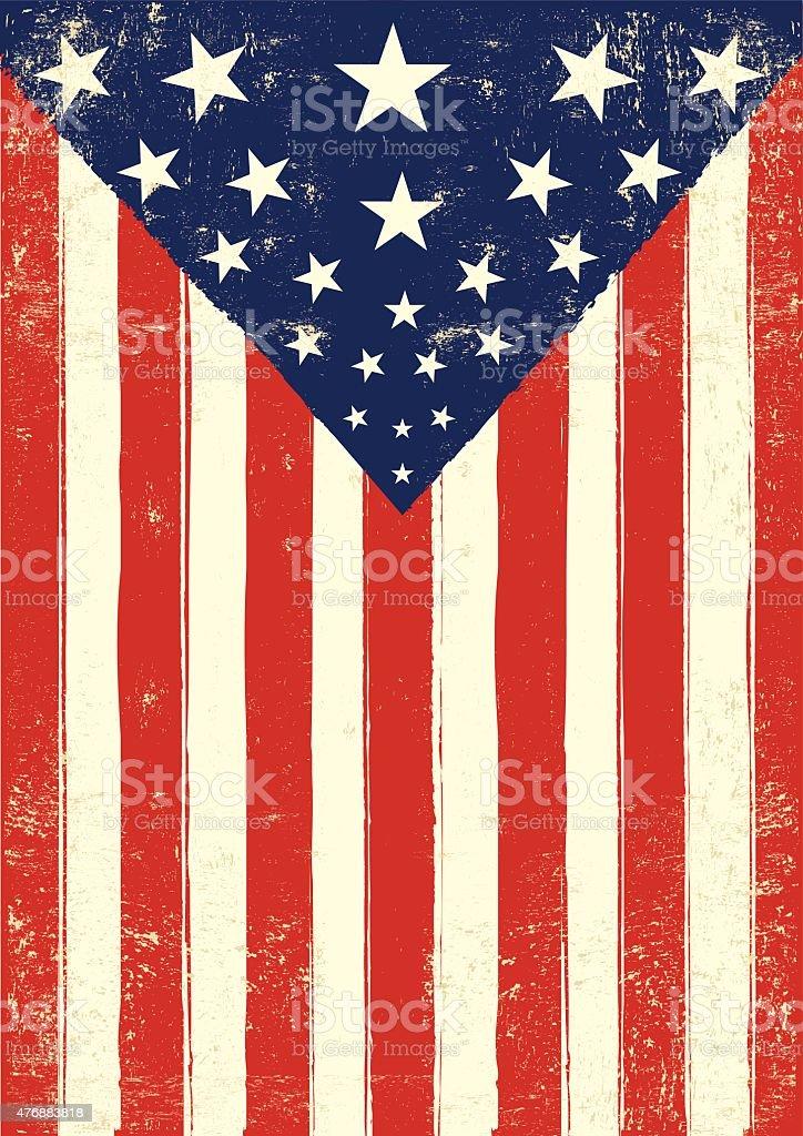 アメリカンレトロなポスターグランジ 2015年のベクターアート素材や