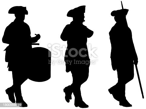istock American Revolution soldiers marching 1300559769
