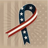 A USA ribbon to show your support and pride.