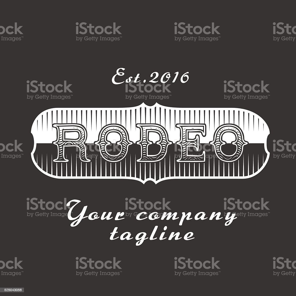 American rodeo vector sign vector art illustration
