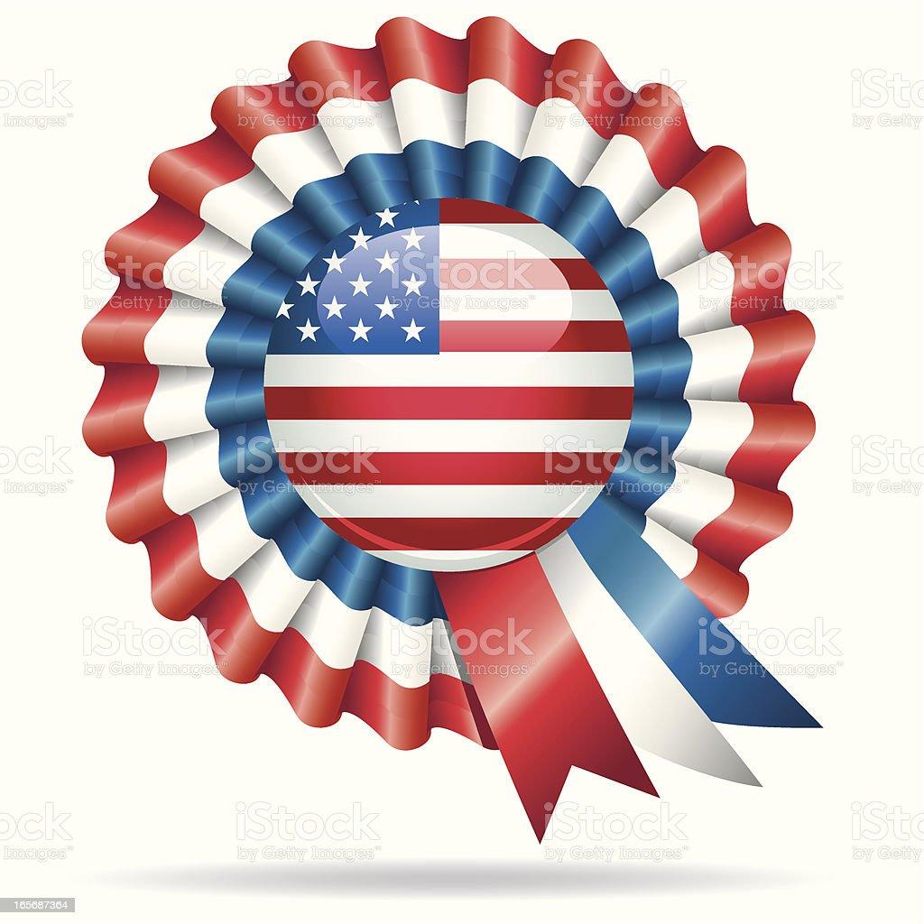 American Rosette royalty-free stock vector art