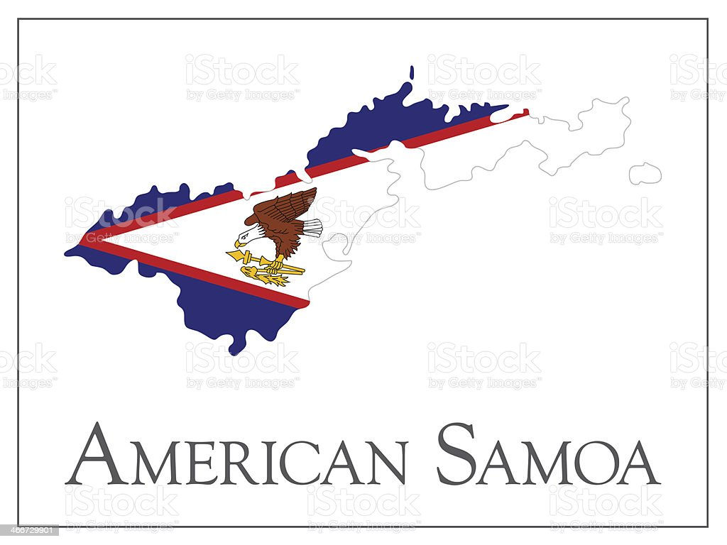 american samoa flag map royalty free american samoa flag map stock vector art