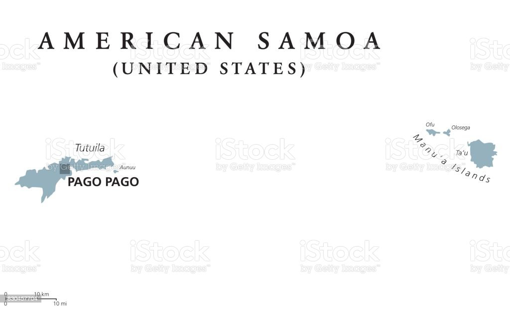 American Samoa Political Map Stock Vector Art & More Images of ...
