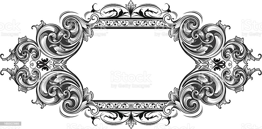 American Scroll Banner royalty-free stock vector art