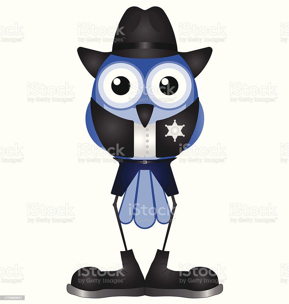 American Sheriff vector art illustration