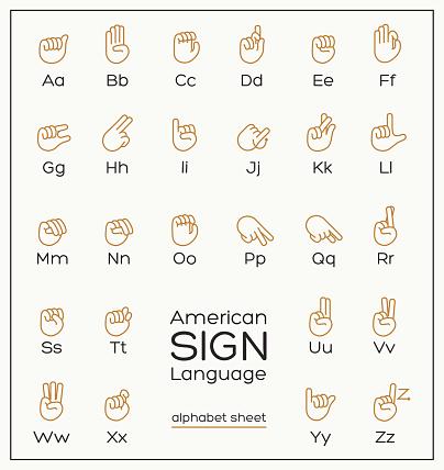 American Sign Language Alphabet Sheet