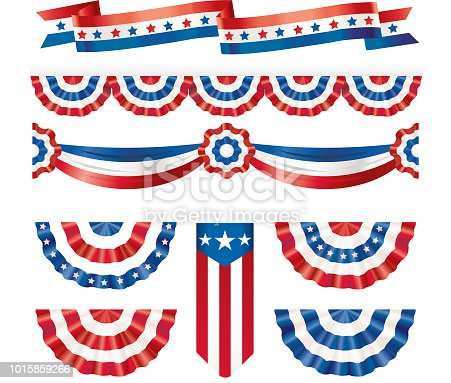 American silk flags