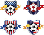 American Soccer Football Emblem