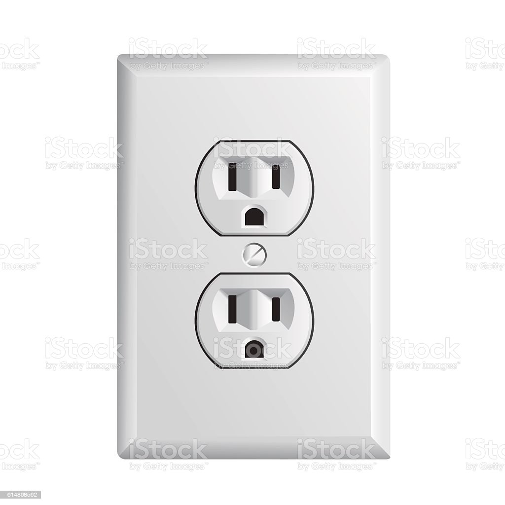 American socket vector art illustration