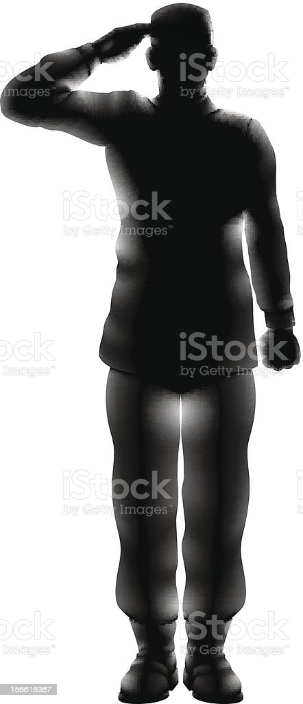 American soldier saluting silhouette royalty-free american soldier saluting silhouette stock vector art & more images of adult