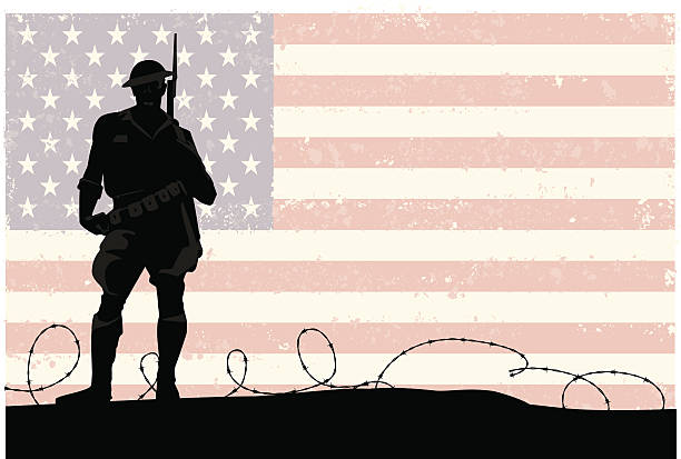 american soldier - heather mcgrath stock illustrations