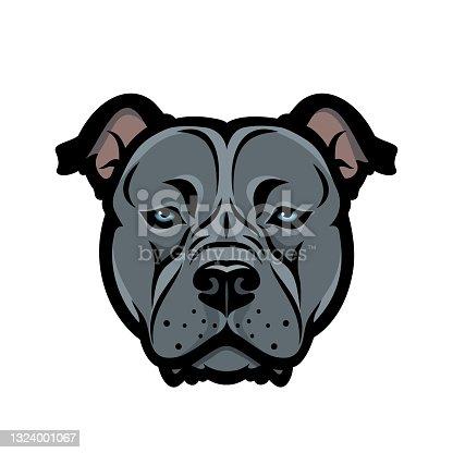 istock American Staffordshire bull Terrier dog, Bully, Pitbull - isolated vector illustration 1324001067