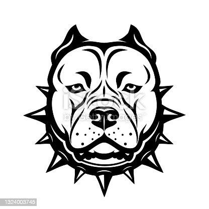 istock American Staffordshire bull Terrier dog isolated vector illustration 1324003745