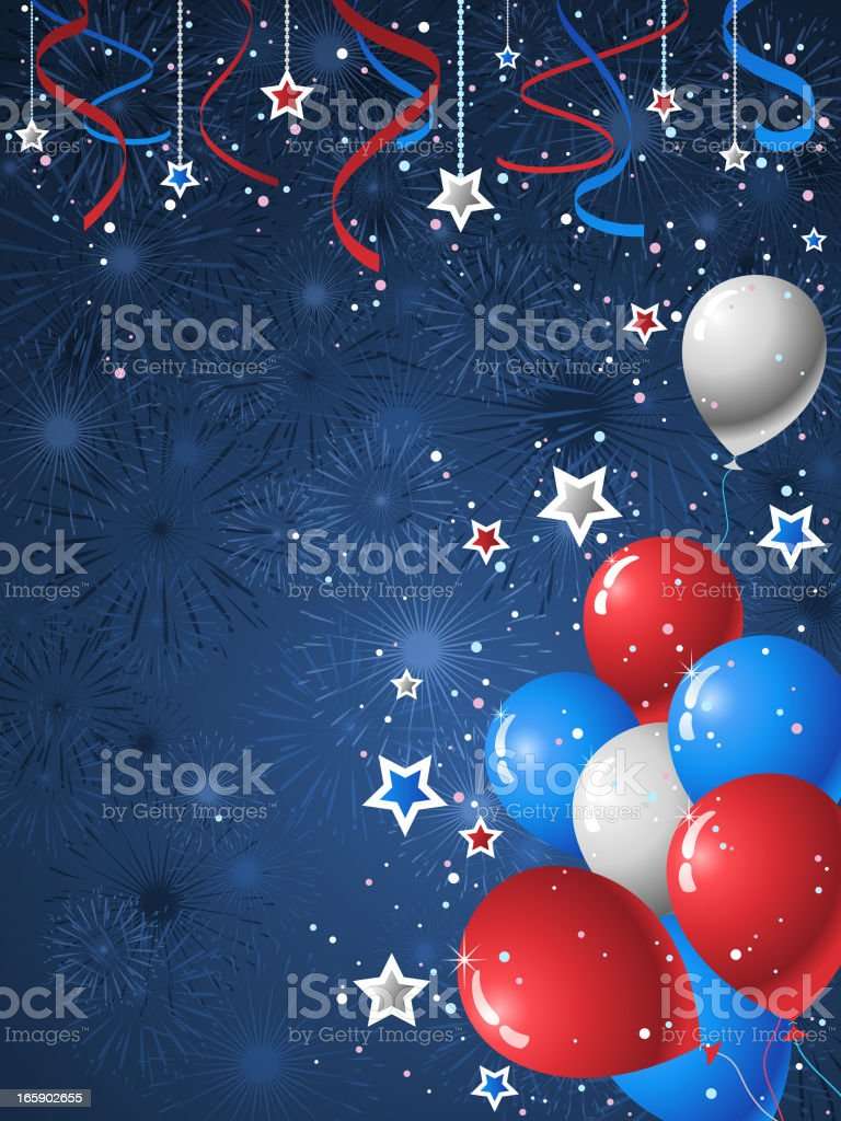American Style Background royalty-free stock vector art