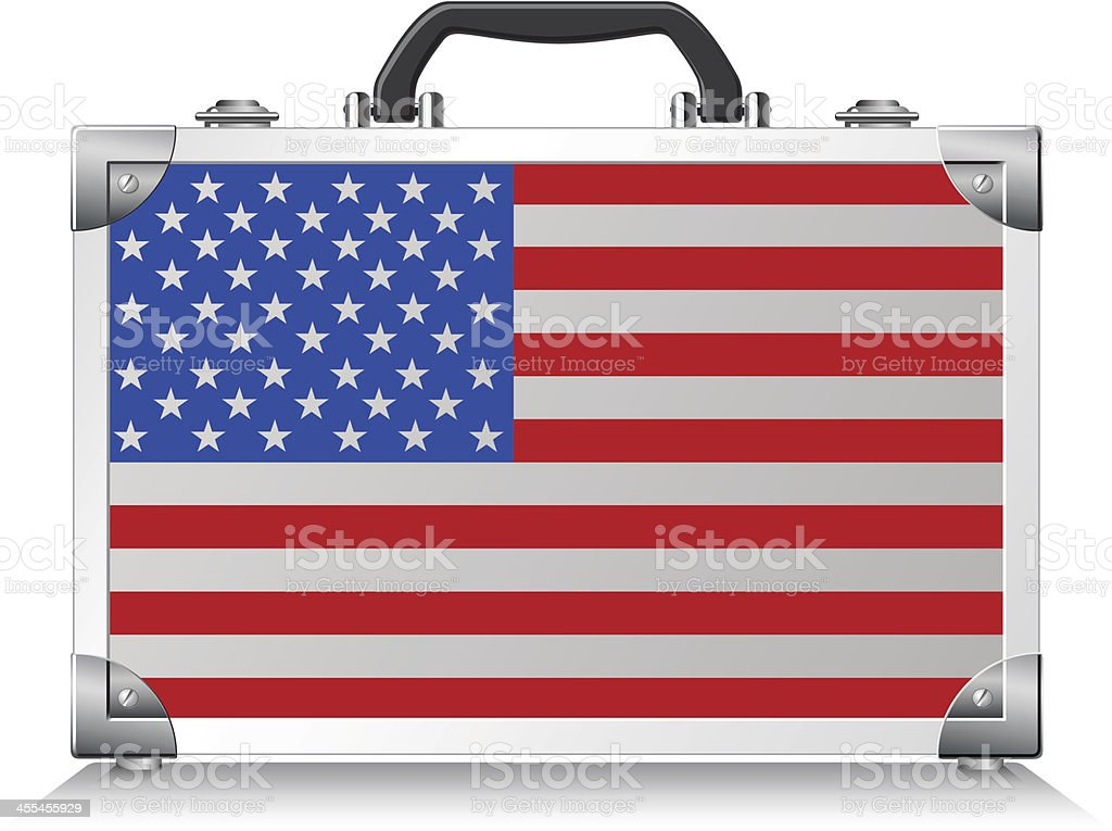 American suitcase royalty-free stock vector art