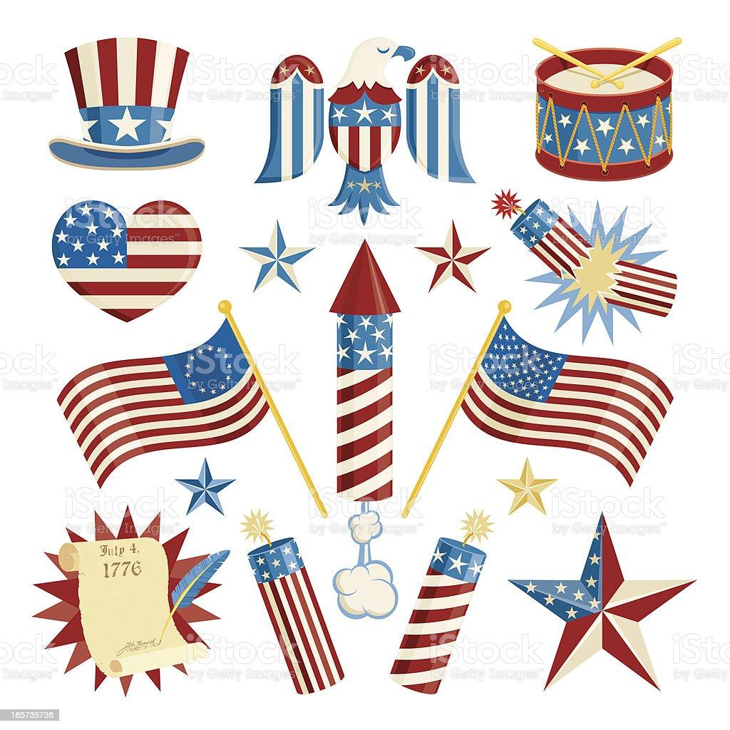 American Symbols Stock Vector Art More Images Of American Culture