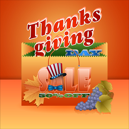American Thanksgiving day, sales