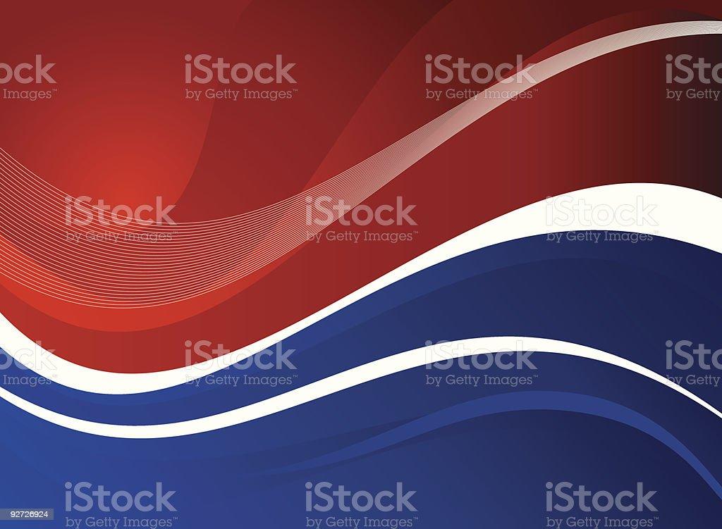 American Theme Background vector art illustration