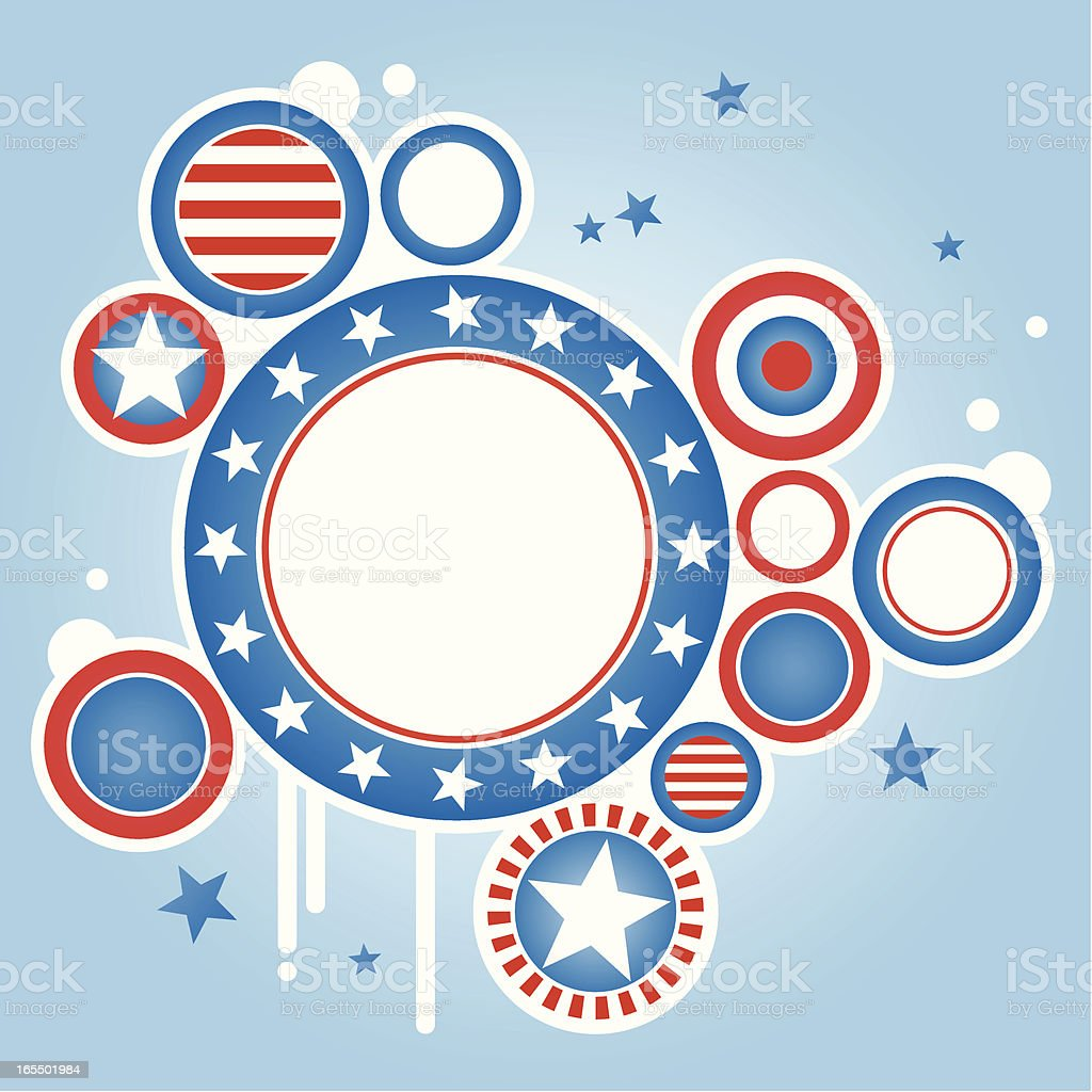 American theme frame royalty-free stock vector art