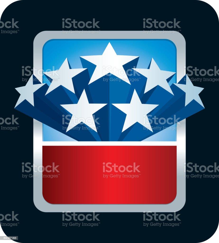 American themed blank promotional card vector art illustration