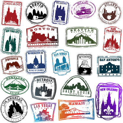 American Travel Stamps