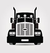 Generic american truck front view