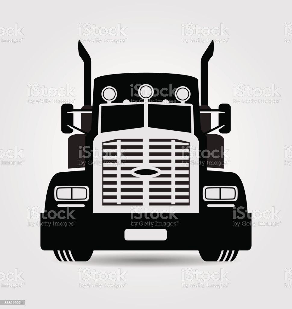 American truck vector art illustration