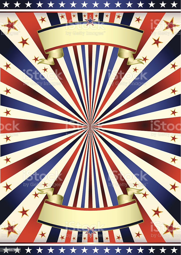 American US tricolore frame royalty-free stock vector art