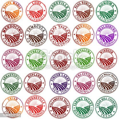 American Wine Country Stamps